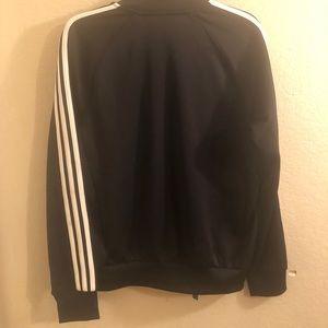 adidas Jackets & Coats - {ADIDAS} black three stripe jacket